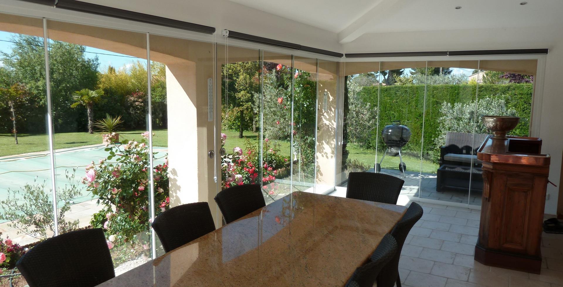 Baie Vitrée Pliante En Accordéon Prix les parois vitrées sunflex - parois vitrées – pergola